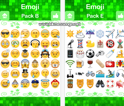 Personajes nuevos y divertidos con Emoji for Kik Messenger