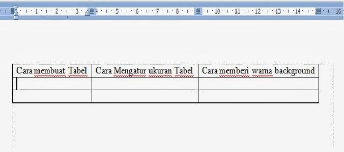 Gambar data tabel sesudah diatur dengan autofit