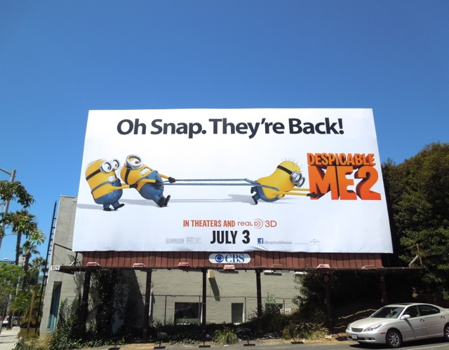 Despicable Me 2 Oh snap billboard
