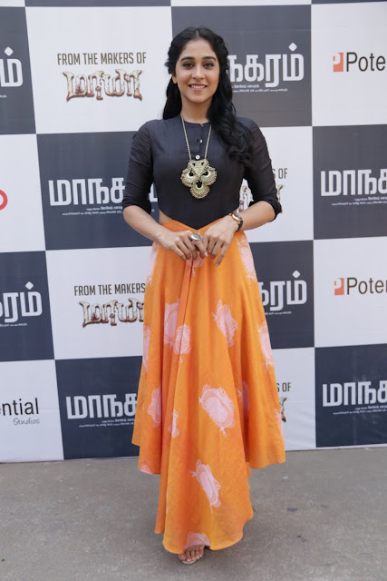 Regina Cassandra at Maanagaram Tamil movie Press Meet