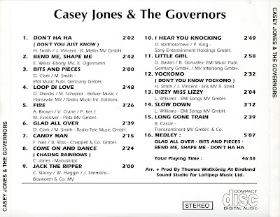 Casey Jones & The (New) Governors