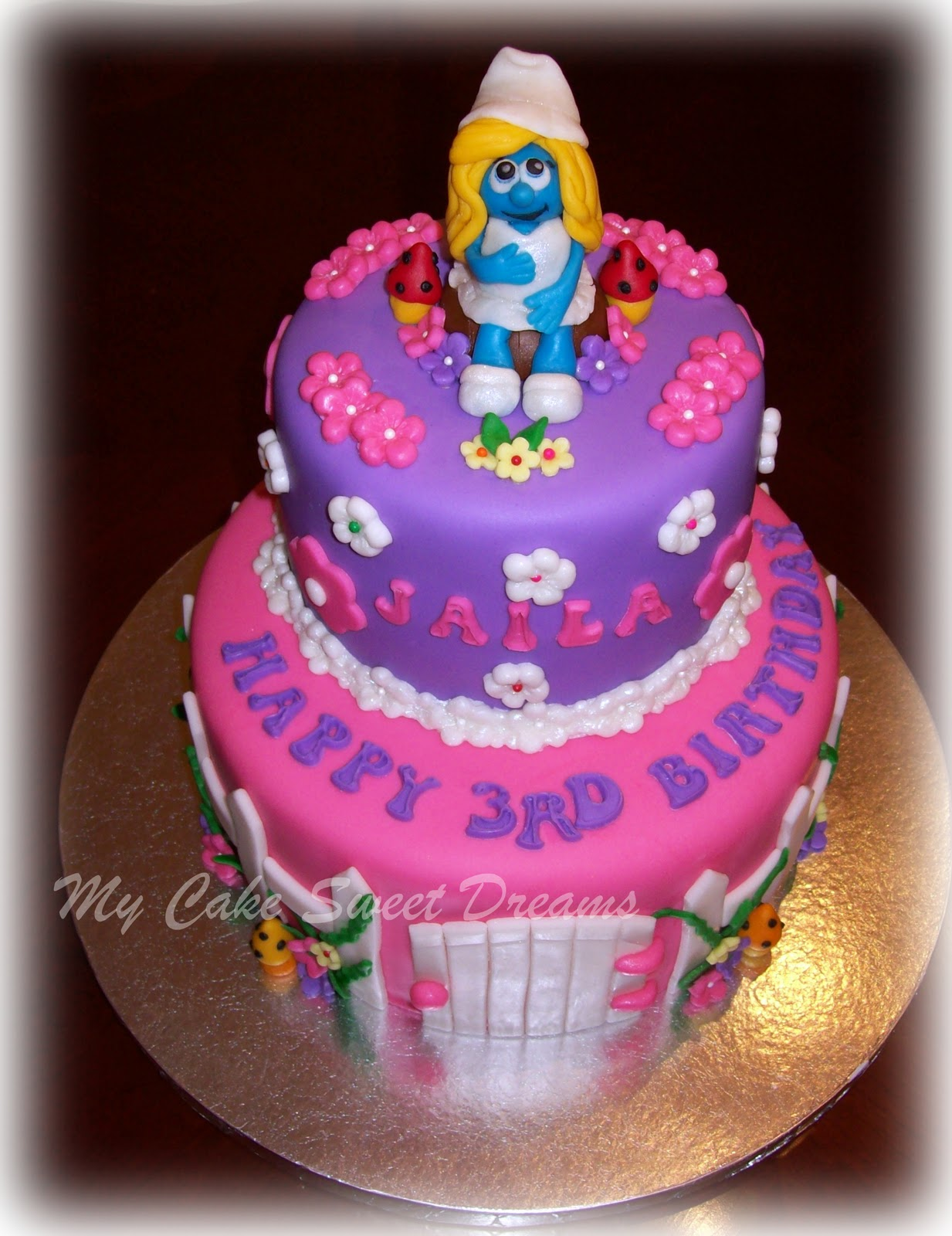 Mycakesweetdreams Smurfette Cake