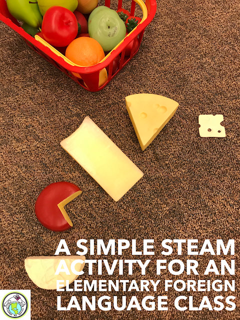 Simple STEAM STEM Activity for Elementary Spanish Class