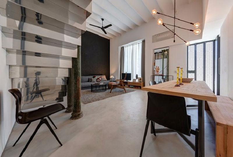 moderno loft con soppalco