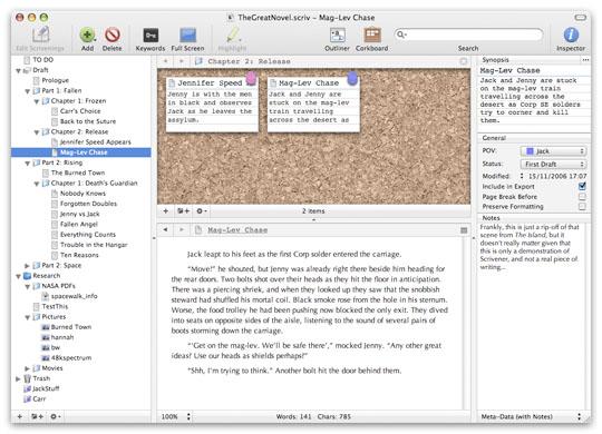 Scrivener writing software reviews