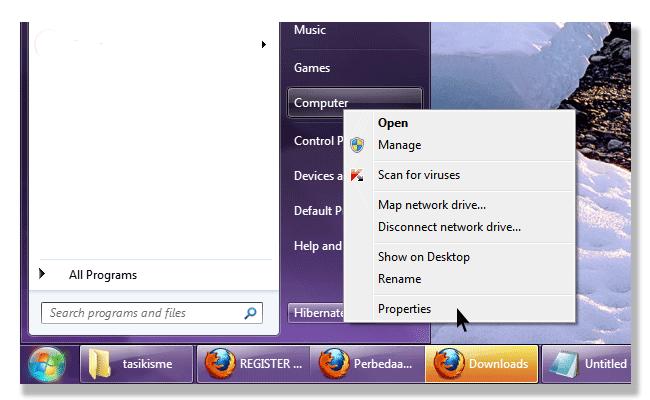 Start Menu Windows 7