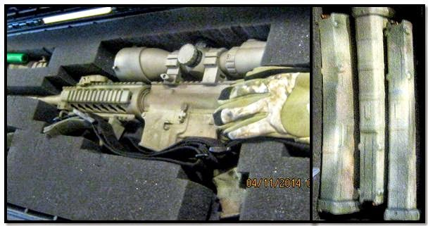 An assault rifle with three loaded magazines was discovered at the Dallas Love Field (DAL) checkpoint.