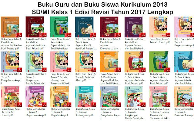 Download Buku Sekolah Elektronik (BSE) Kelas I SD/MI Sederajat Tematik 1, 2, 3, 4, 5, 6, 7, 8, dan PAI Lengkap Kurikulum 2013 Revisi 2017 Tahun Ajaran 2018/2019 - Gudang Makalah