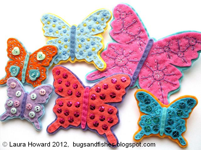 http://bugsandfishes.blogspot.co.uk/2012/04/how-to-felt-butterfly-brooches.html