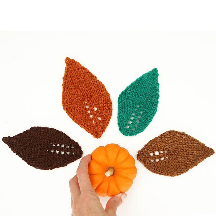 Easy Leaf Free Knitting Pattern - Gina Michele