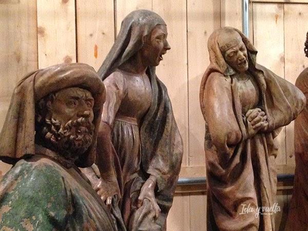 Tres de las figuras del Compianto de Santa María della Vita