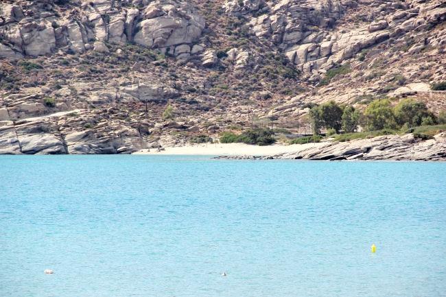blue waters of Ios island