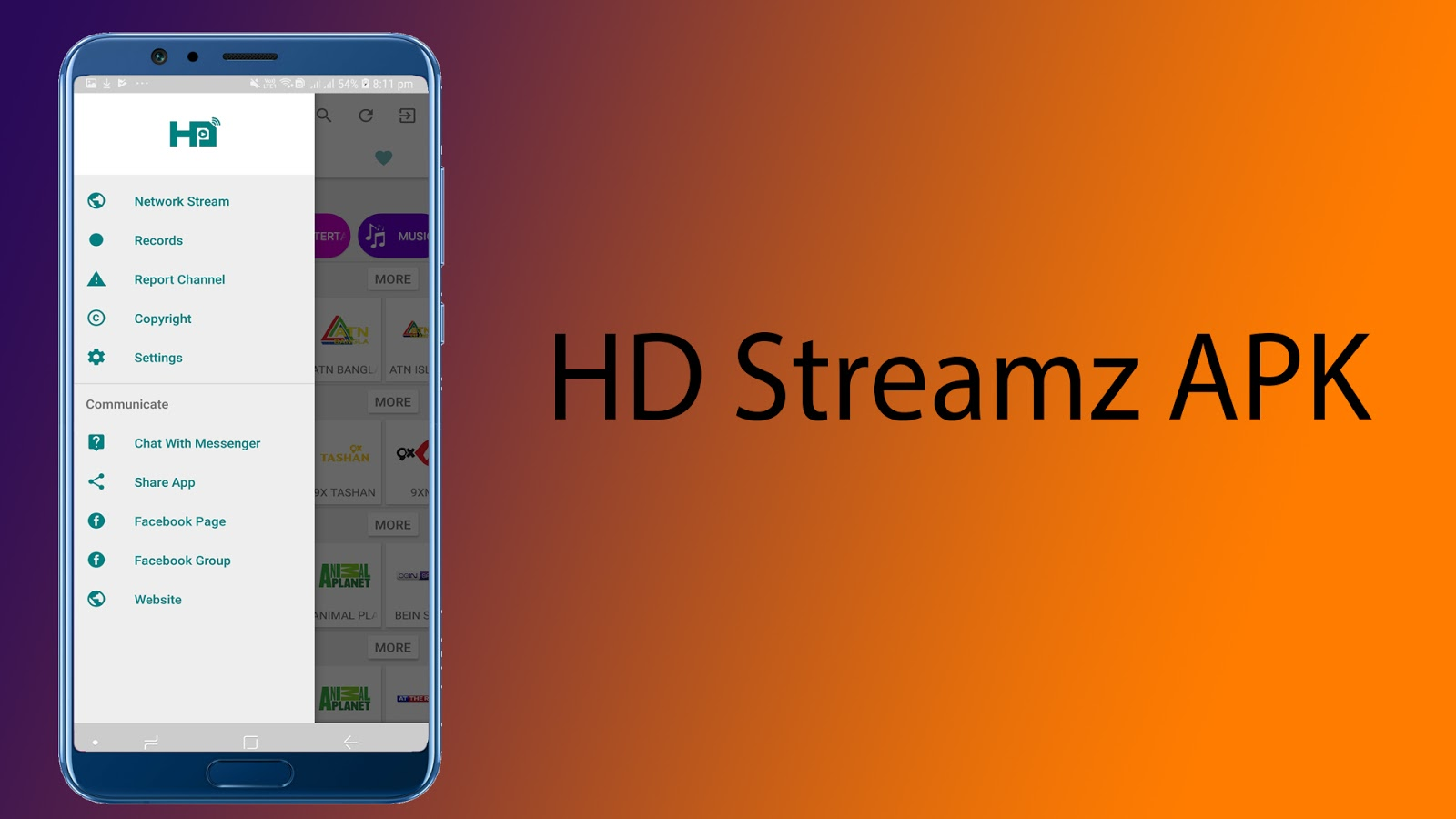 HD Streamz APK for Android - free - latest version - Android
