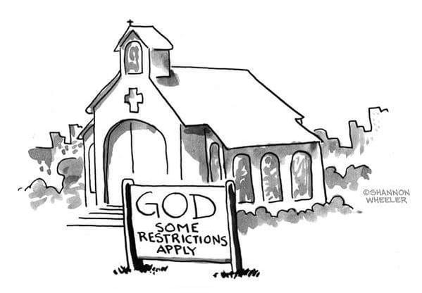 Funny God Some Restrictions Apply Cartoon Image