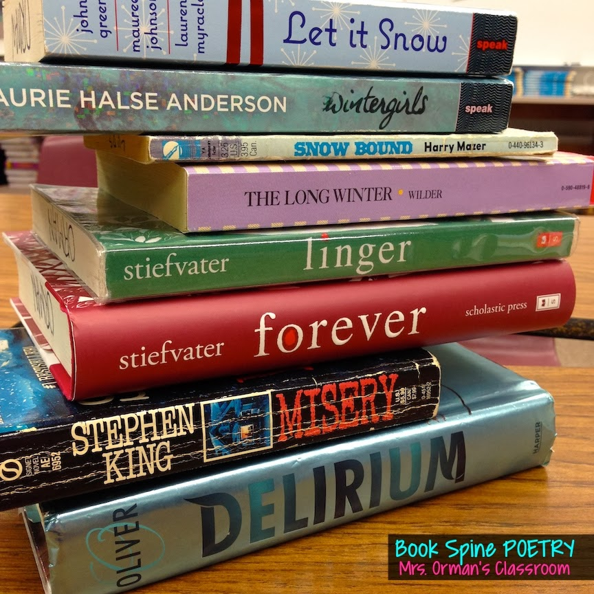 Book Spine Poetry from www.traceeorman.com  Click for more images.