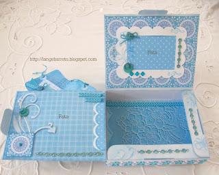 Caixa decorada parte interna