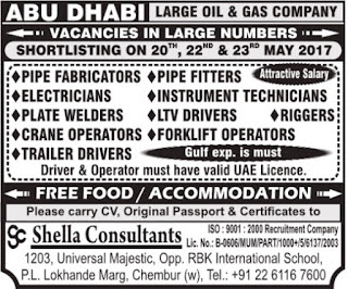 Large Oil & Gas company jobs in Abu Dhabi