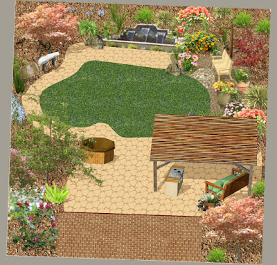 Patio Ideas For Backyard Photos Vector Illustration Beautiful Design Picture 009