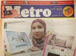 FEATURED IN HARIAN METRO - AUGUST 2013