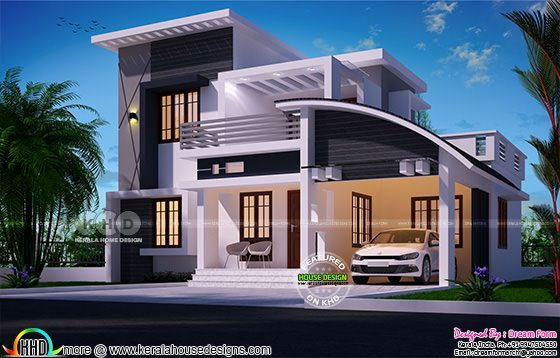 1722 square feet 4 bedroom mixed roof house