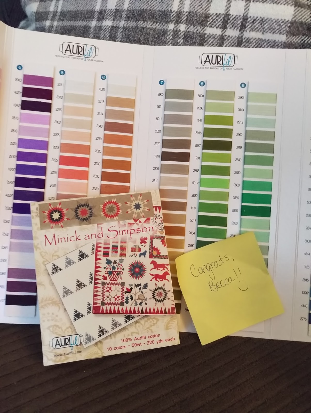 Aurifil thread reference card