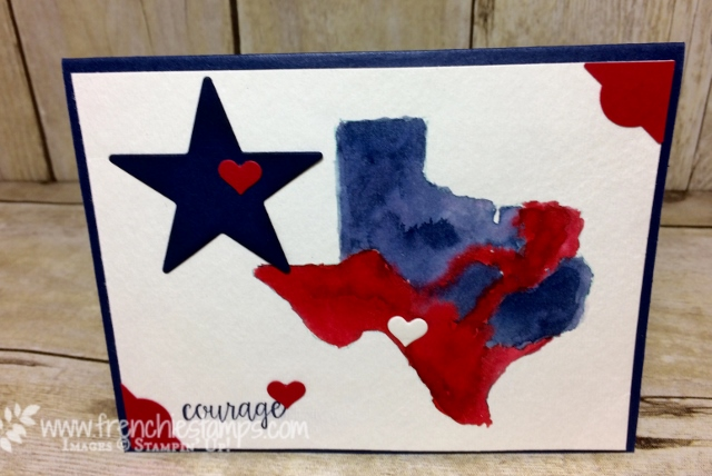 Watercolor Texas Map, Texas Proud, Frenchiestamps