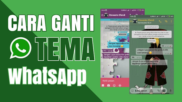 Cara Ganti Tema Whatsapp Dengan Background Foto Pribadi