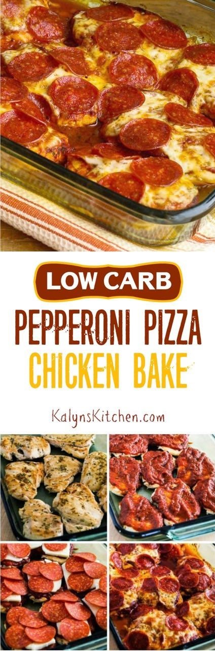 Pepperoni Pizza Chicken Bake