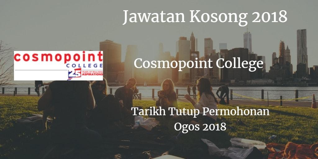 Jawatan Kosong Cosmopoint College Ogos 2018