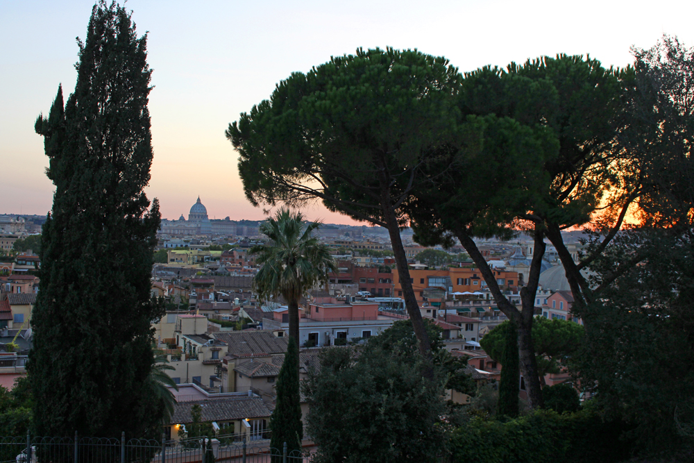 Sunset from Villa Borghese, Rome - style & travel blog