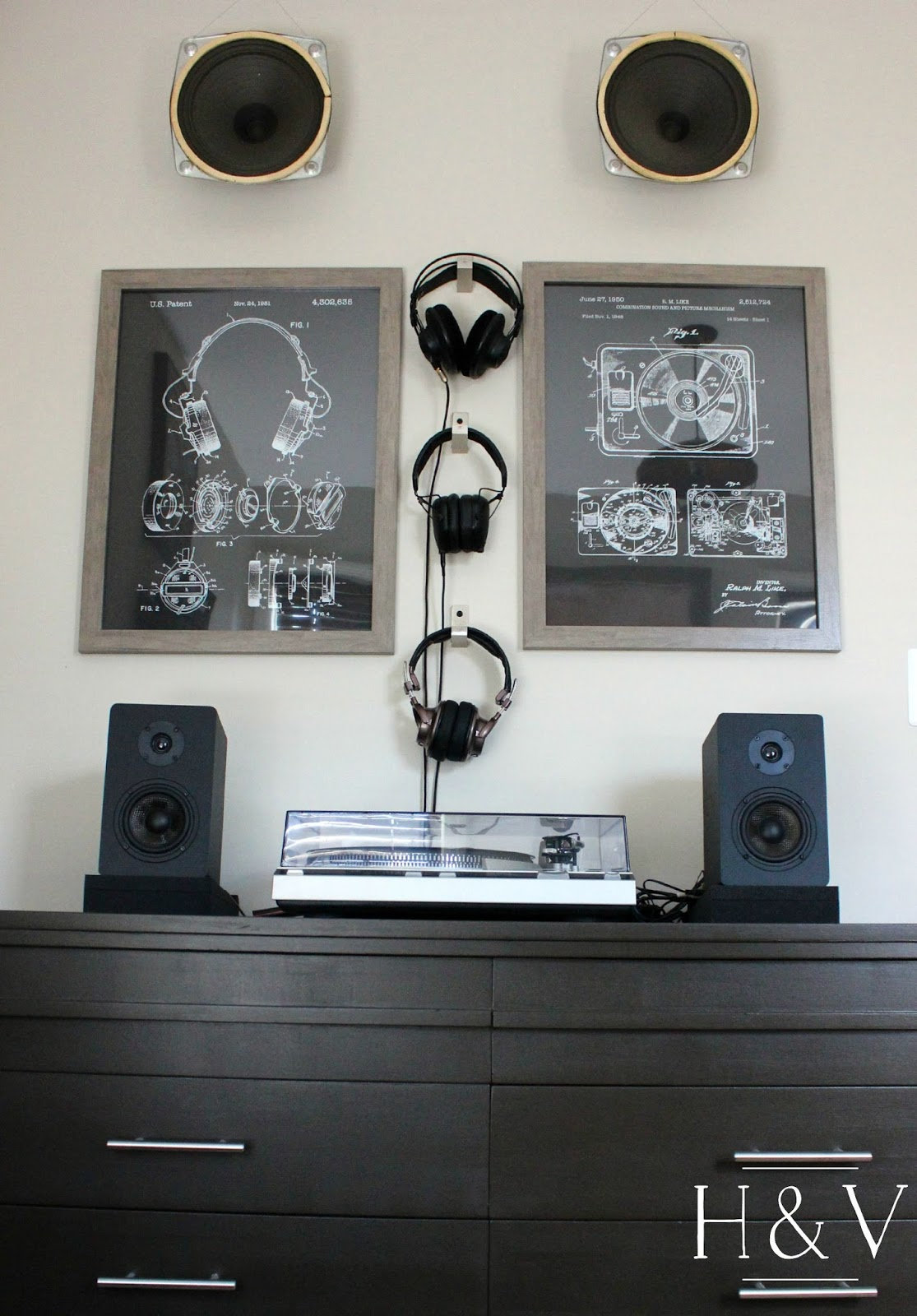 Mid Century Wall Hung Stereo