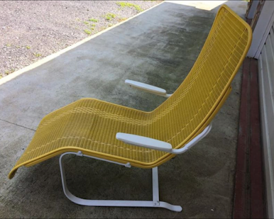 Yellow Lloyd Flanders Lounge Chair