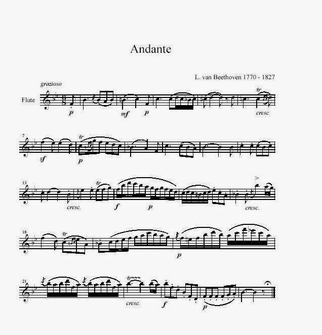 Beethoven - Andante partitura