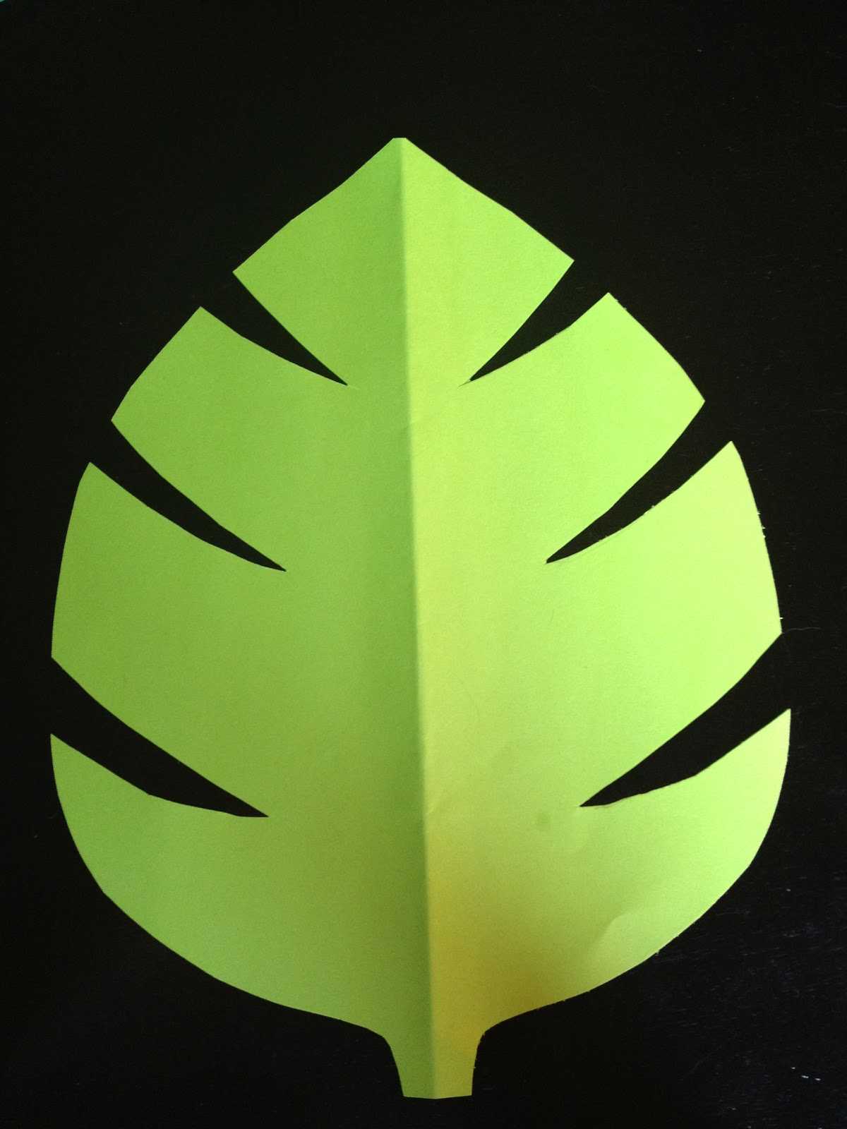 From becca 39 s home to yours with love throwing a jungle for Jungle leaf templates to cut out