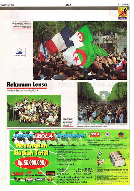 REKAMAN LENSA PIALA DUNIA 1998: DAN BERPESTALAH PRANCIS