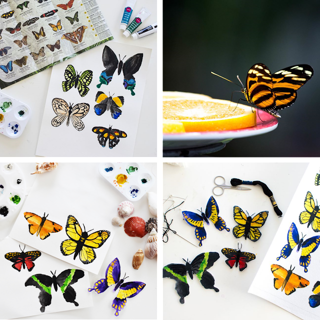 Fabric Butterflies in the Shop!!