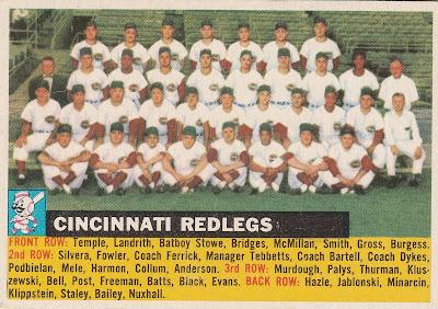 The Power Company - The 1956 Topps Cincinnati Redlegs Team Set