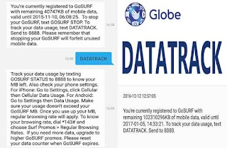 How to Check Globe GoSurf Remaining Data Balance using DATATRACK