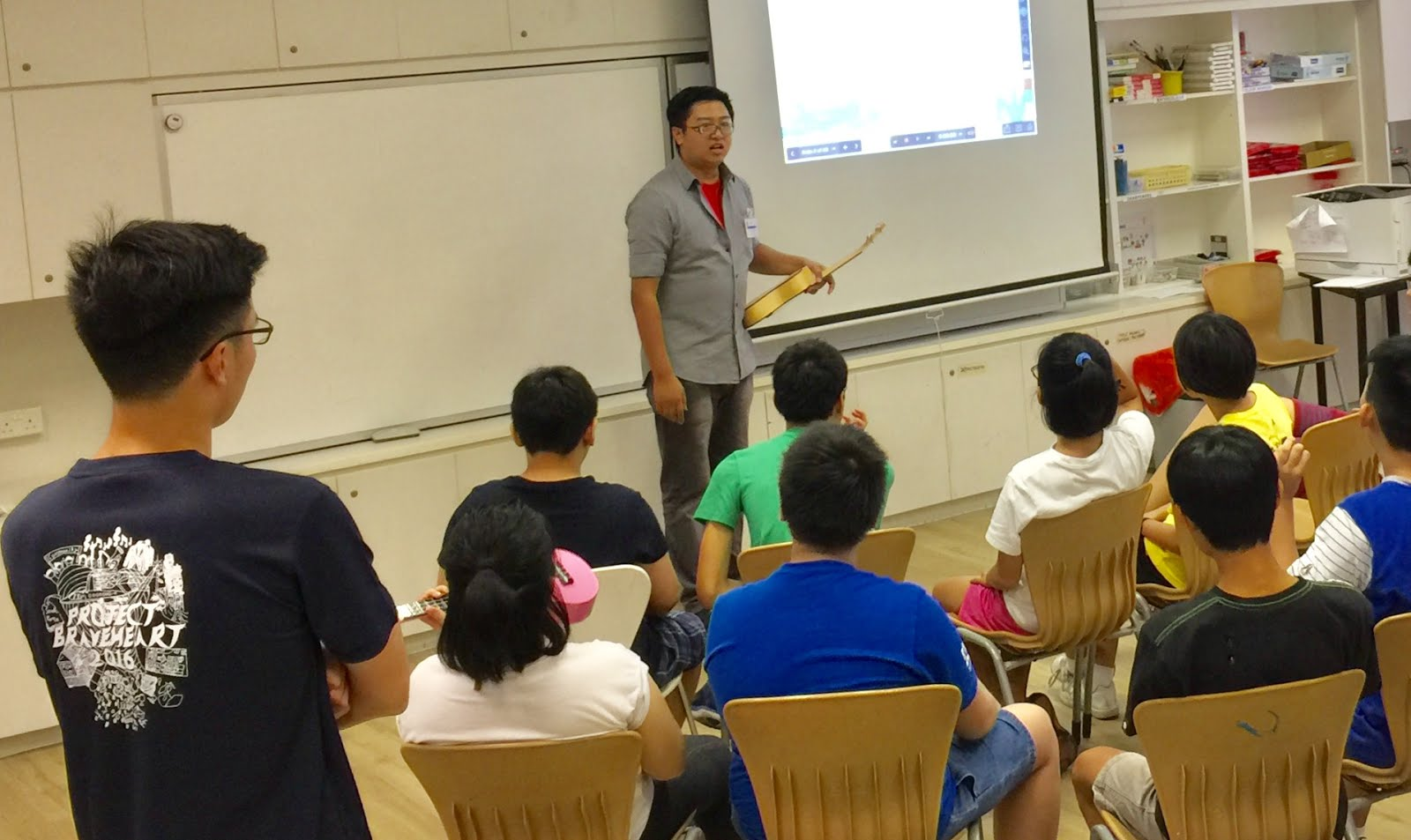 Intune Music Guitar Instructor Evan Liao Conducted A  Days Ukulele Workshop At Autism Resource Centre From  June To  June