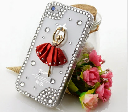 New trendy Red ballet girl cute cover case for Samsung and iPhone Mobile