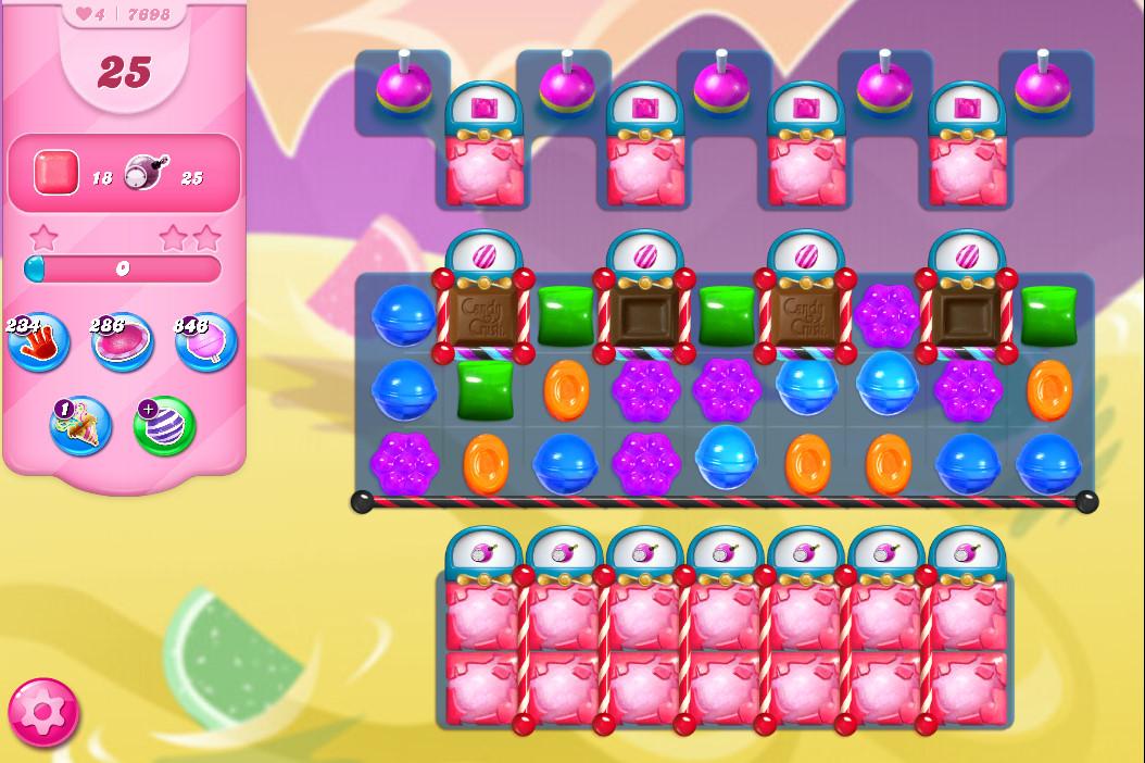 Candy Crush Saga level 7698