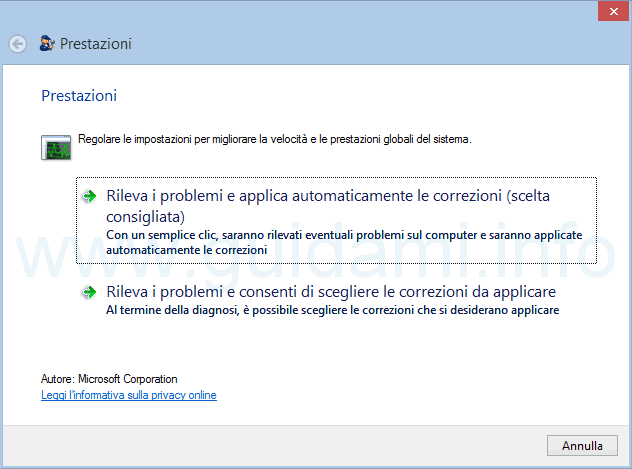 Microsoft Fix it per velocizzare il PC Windows