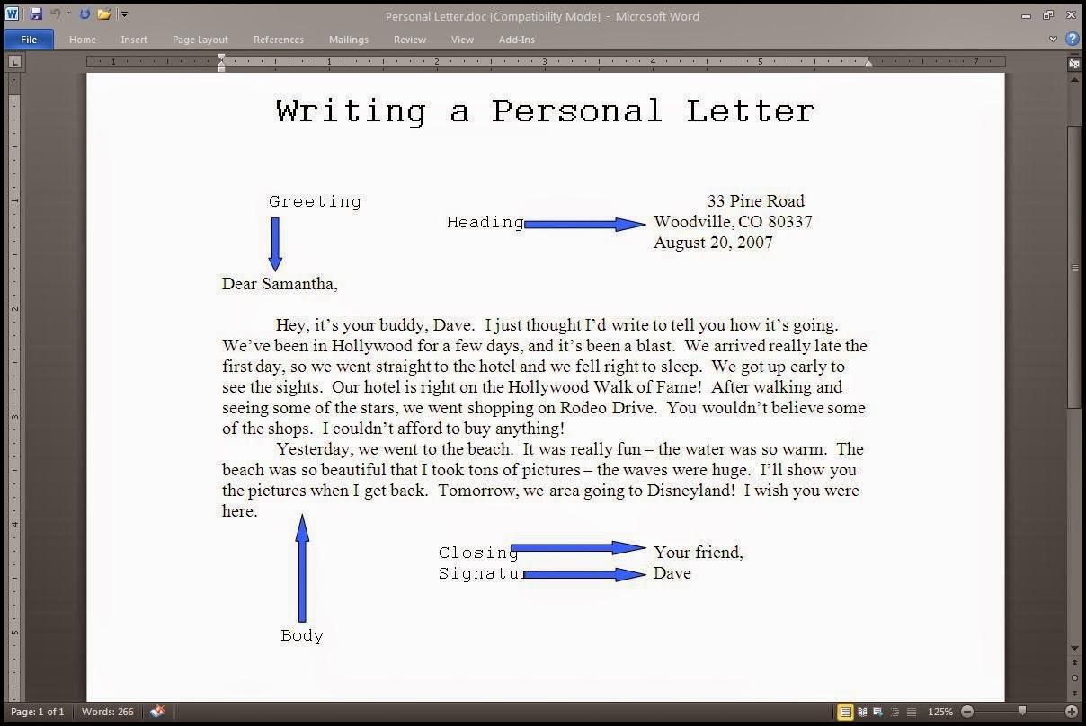 ESO 14 English: Informal letter writing FCE