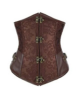 steampunk brown underbust brocade corset