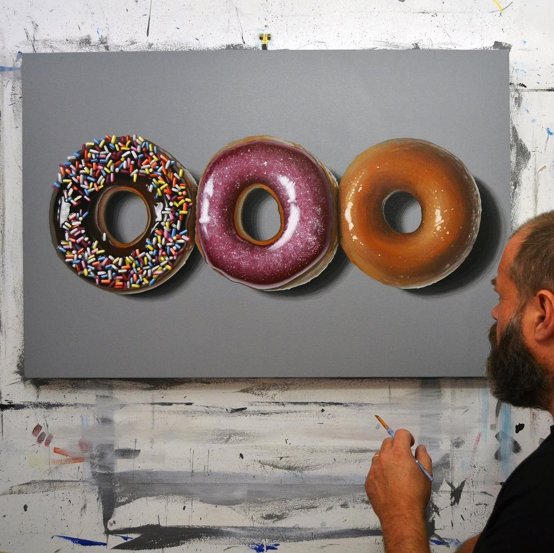 13-Krispy-Kreme-Peter-Slade-Hyper-Realistic-Paintings-Acrylic-on-Canvas-www-designstack-co