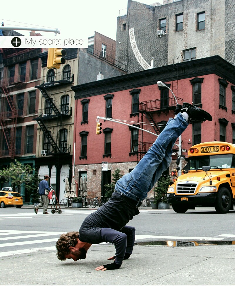 Yoga anywhere. New York, OM Yoga Magazine