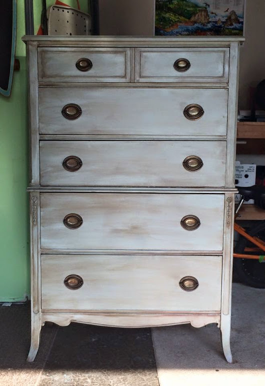 Vintage Tallboy Makeover - Before and After