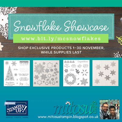 Stampin' Up! Snowflake Showcase Exclusive Craft Supplies from Mitosu Crafts UK Online Shop