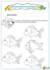 Caderno de Atividades Matemática Projeto no Fundo do Mar grátis para imprimir