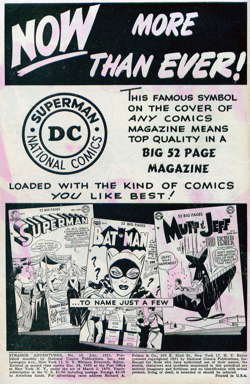 Strange Adventures (1950) issue 10 - Page 2
